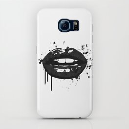 Black and white glamour fashion lips iPhone Case