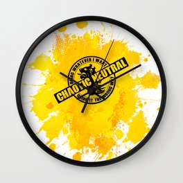 Chaotic Neutral RPG Game Alignment Wall Clock
