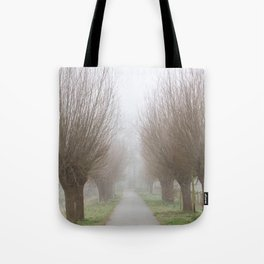 Misty willow lane Tote Bag