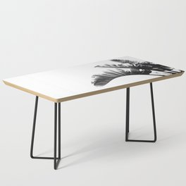 Palm leaves black and white tropical watercolor Coffee Table