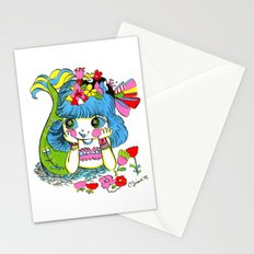 Happy Girl Mermaid Stationery Cards