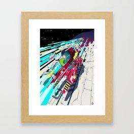 Faster than GAME OVER v1.0 +ART PRINT DESIGN+ Framed Art Print