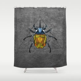 Geo Beetle  Shower Curtain