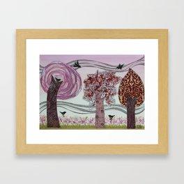 Pink Grove Framed Art Print