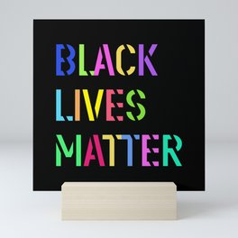 Black Lives Matter Colorful Stencil 1 Mini Art Print