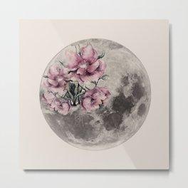 Moon in Bloom Metal Print