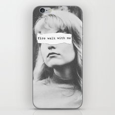 Fire Walk With Me iPhone Skin