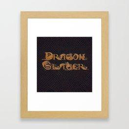 Dracoserific Dragon Slayer Framed Art Print