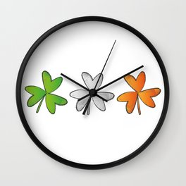 Shamrock Irish St Patricks Day Wall Clock
