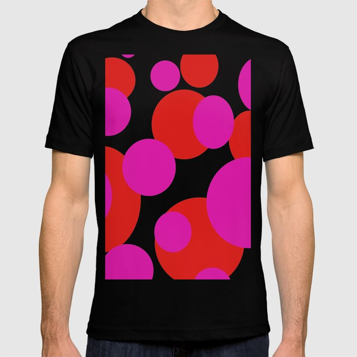 0d92b83af6fd11 Pink and Red dots T-shirt by sammygirls999 | Society6