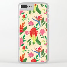 Tropical afternoon Clear iPhone Case