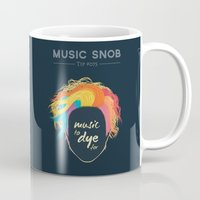paramore Mugs featuring Music to DYE for — Music Snob Tip #075 by Elizabeth Owens