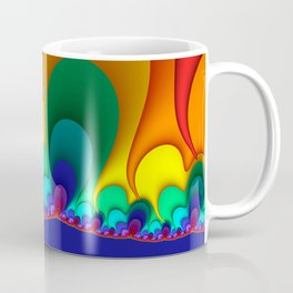 Colorful Fractals Art Shapes Coffee Mug