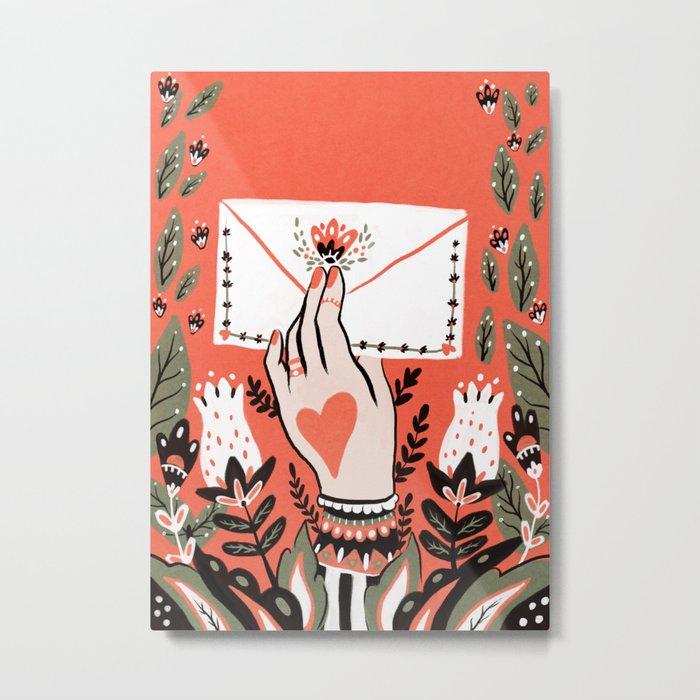 Love Letter Metal Print