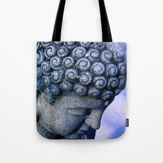 Buddha's Winter Prayer Tote Bag