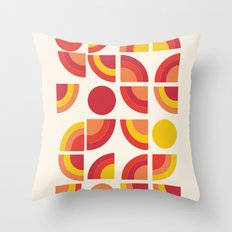 Boogie - abstract retro minimalist 70s 1970s style pattern art 70's 1970's Throw Pillow