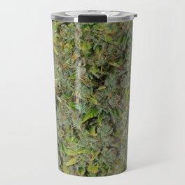 cannabis bud, marijuana macro Travel Mug