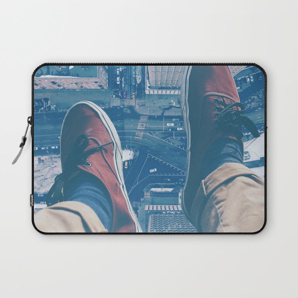 Sat Atop A Skyscraper Laptop Sleeve LSV8656854