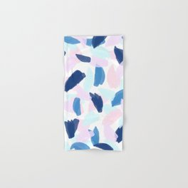 Blue and Pink Paint Hand & Bath Towel
