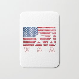 Aikido Sport on USA Flag of America Bath Mat