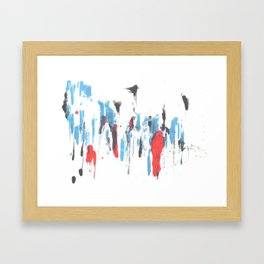 forest and person Framed Art Print