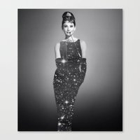 audrey hepburn Canvas Prints featuring Audrey Hepburn by Laure.B