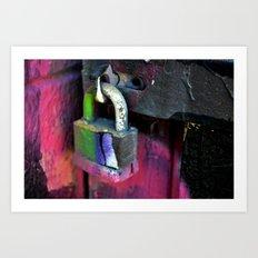 Locked Up Art Print