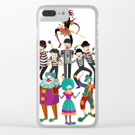 clowns and mimes Clear iPhone Case