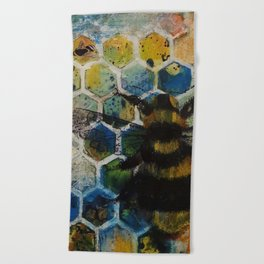 Bee Kind to One Another Beach Towel