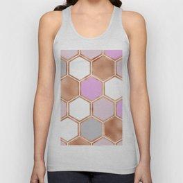 Bright sunrise rose gold geometric Unisex Tank Top