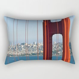 Golden Gate Bridge – Panoramic Downtown View Rectangular Pillow