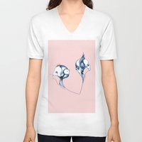 fig V-neck T-shirts featuring fig by schleuf