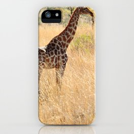 African Giraffe on a Bright Day iPhone Case