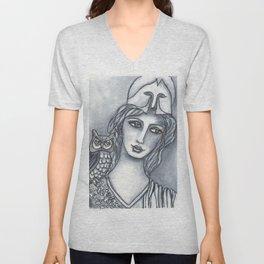 Goddess of Wisdom Unisex V-Neck