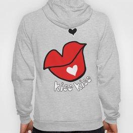 Big Lips, kiss kiss and heart  Hoody