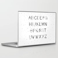 font Laptop & iPad Skins featuring Craft Font by neuprouns
