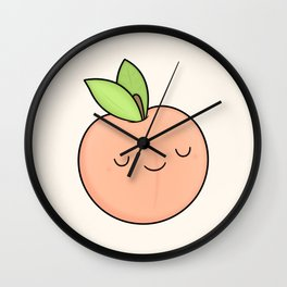 Happy Peach Wall Clock