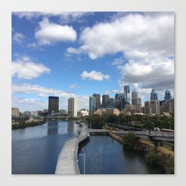 Philly Blue Skies Canvas Print
