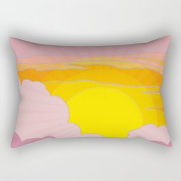 Sixties Inspired Psychedelic Sunrise Surprise Rectangular Pillow