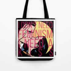 Feminism Kiss Off Tote Bag