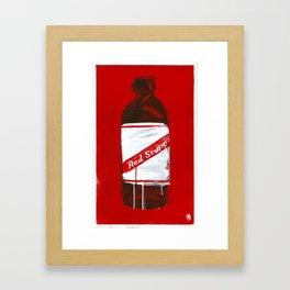 "Red Stripe (2011), 17"" x 27"", acrylic on gesso on chipboard Framed Art Print"