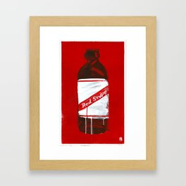 "Red Stripe (2011), 17"" x 27"", acrylic on gesso on chipboard Framed Art Print"