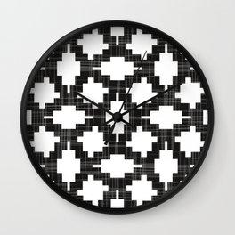 Modern geometric pattern in tribal style Wall Clock