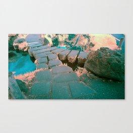 Stone Bridge at the Japanese Gardens, San Francisco Canvas Print