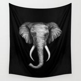 Elephant Head Trophy Wall Tapestry