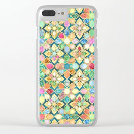 Gilded Moroccan Mosaic Tiles Clear iPhone Case