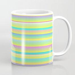 MID CENTURY MODERN BRIGHT MULTI COLORED SUMMER STRIPES Coffee Mug