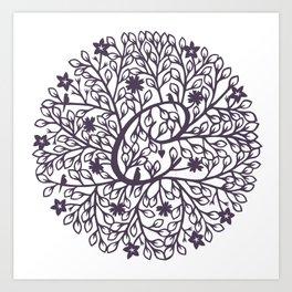 C - monogrammed initial C print Art Print