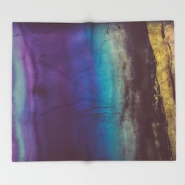 Bohemian Blue Earth Throw Blanket