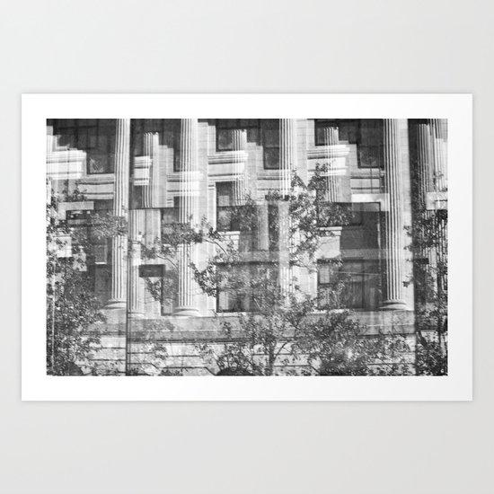 Downtown 2: Through Glass Art Print